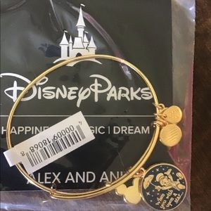 Disney Parks Alex and Ani jiminey cricket bracelet